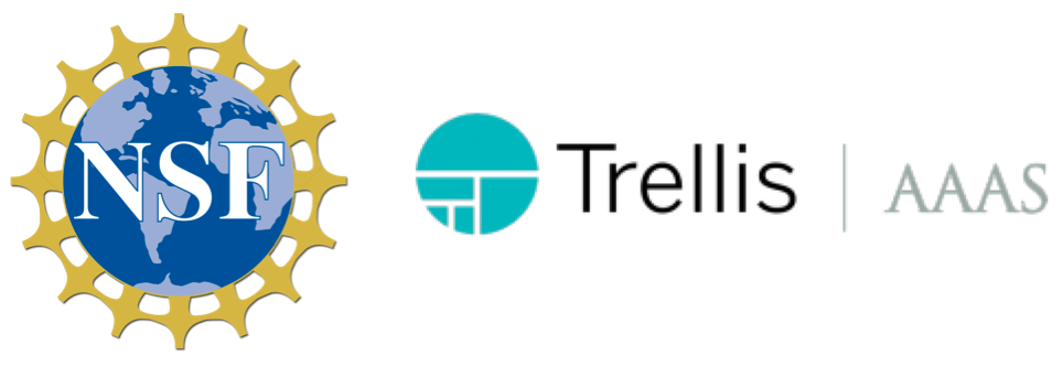 NSF, Trellis, and AAAS logos