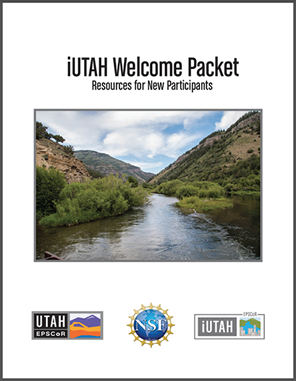The cover of the iUTAH welcome packet.